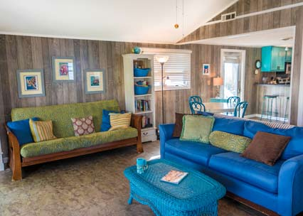 Beach House Living Room pet friendly